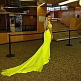 Selita Ebanks's bold yellow gown was a sight to behold. Source: Instagram user selitaebanks