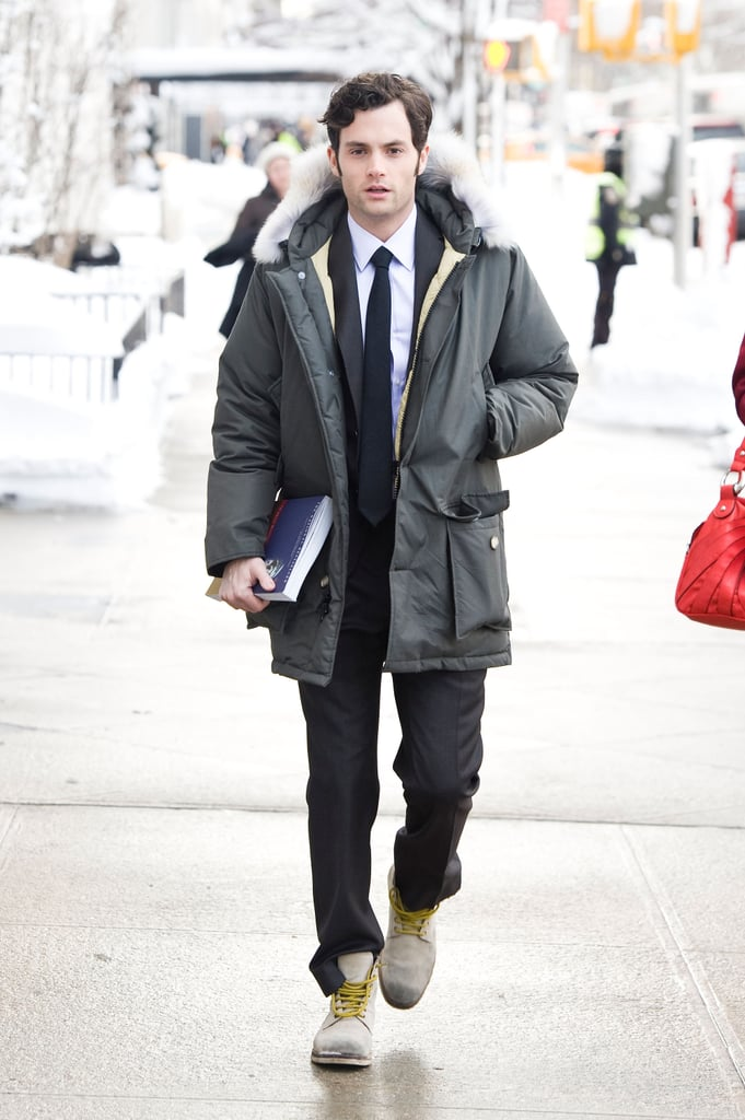 Pictures of Gossip Girl Cast in the New York Snow