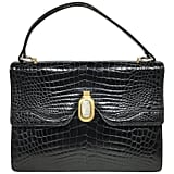Gucci 1960's Black Crocodile Handbag