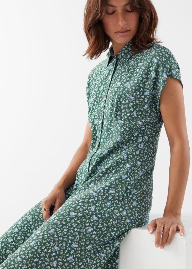 Relaxed Midi Shirt Dress