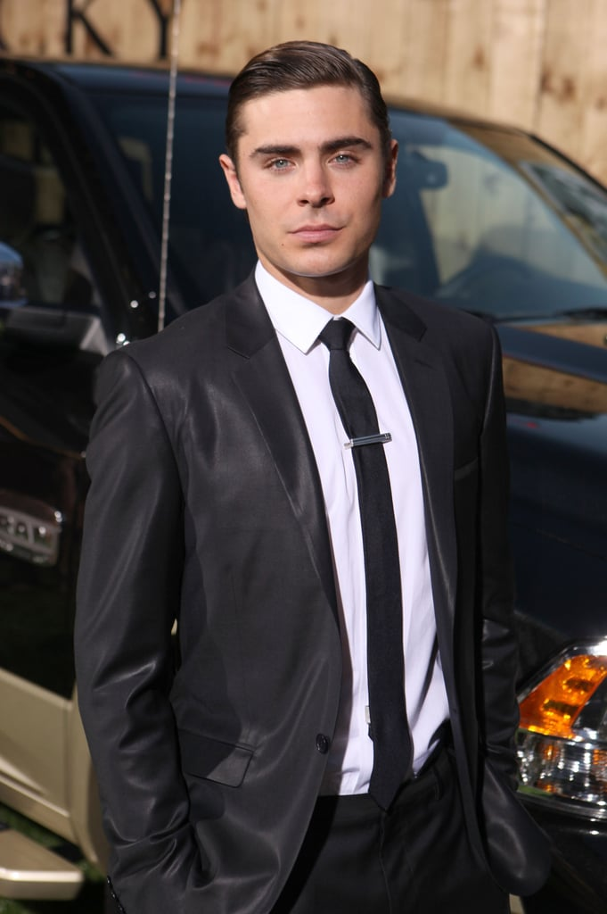 Zac Efron looking dapper at the premiere for The Lucky One  in LA.
