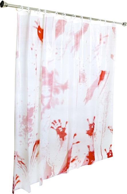 Bloody shower curtain ($6) | TV and Movie Halloween Decorations ...