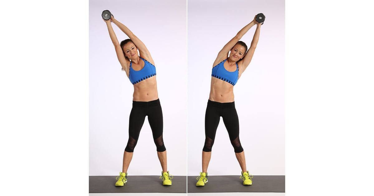 Standing Side Bend | These Are the 17 Best Ab-Strengthening Exercises Using  Weights | POPSUGAR Fitness Photo 13