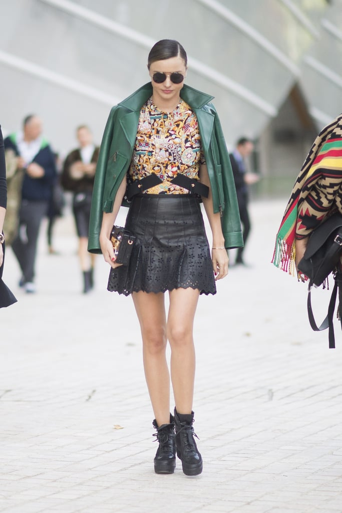 Miranda Kerr wearing Louis Vuitton.