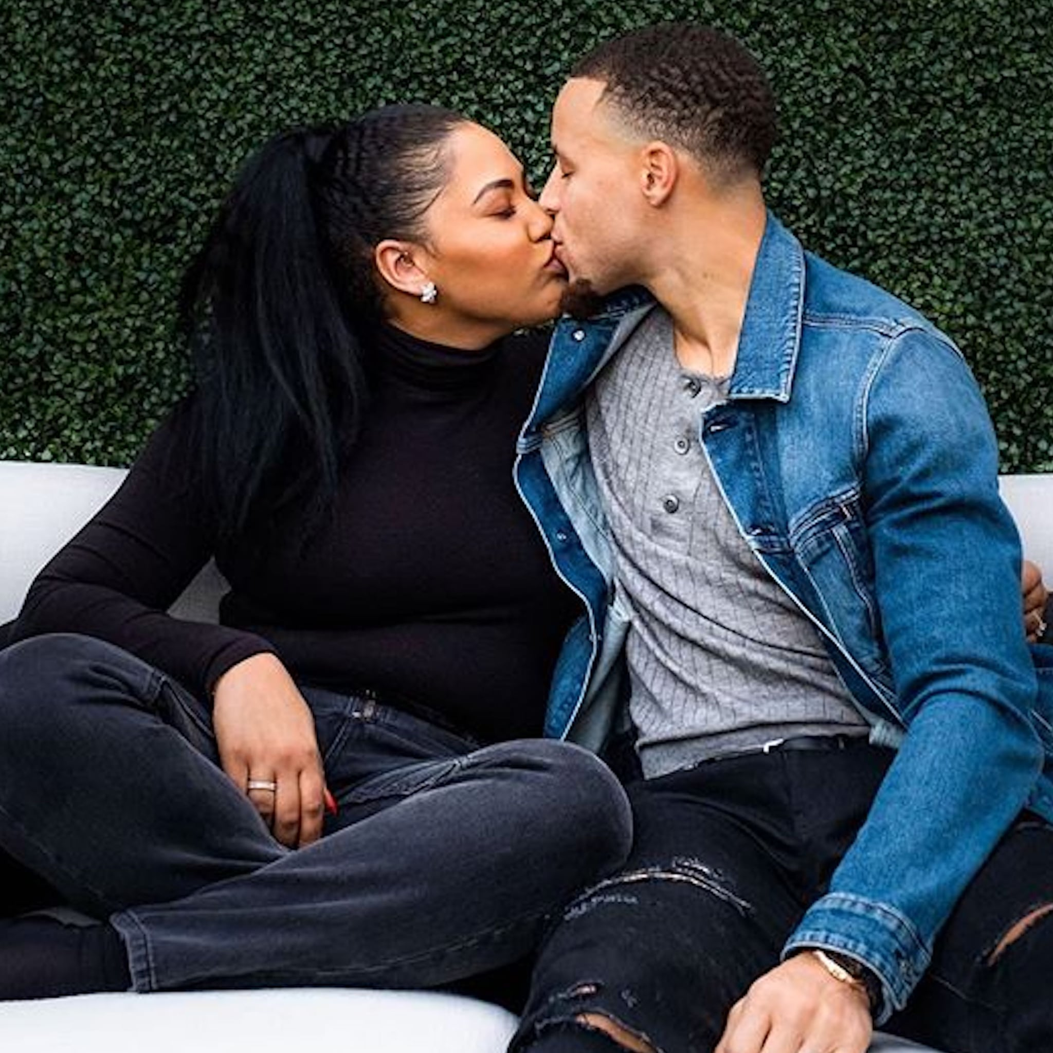 Cute Pictures Of Stephen Curry And His Wife Ayesha Popsugar Celebrity