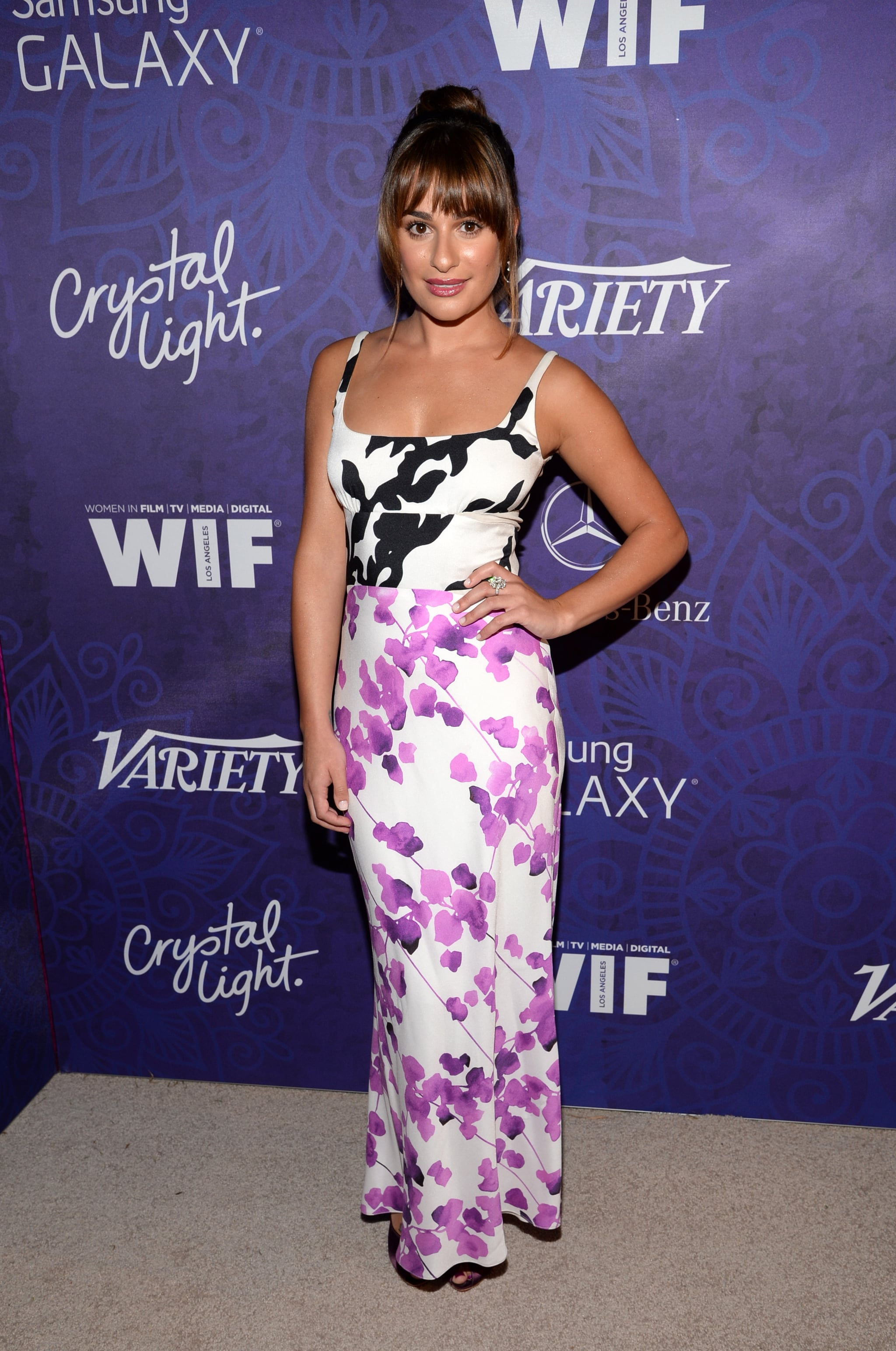 Lea Michele worked her stuff at Variety's Women in Film event on Saturday.