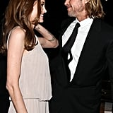 Brad Pitt and Angelina Jolie shared a moment inside the Palm Springs International Film Festival in January.