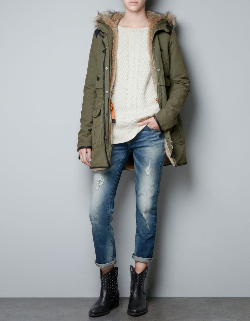 Back-to-school staple: Zara Combined Cotton Parka ($169) Why it shouldn't be overlooked: As much as we'd love to live in our leather moto jackets and lightweight trench coats, those pieces aren't the kind of run-to-class-on-a-chilly-morning fare that will get us through Fall. This olive-green parka appeals to our military-inspired styling sensibility and features a cool, cozy liner inside. It's a fashion win-win.