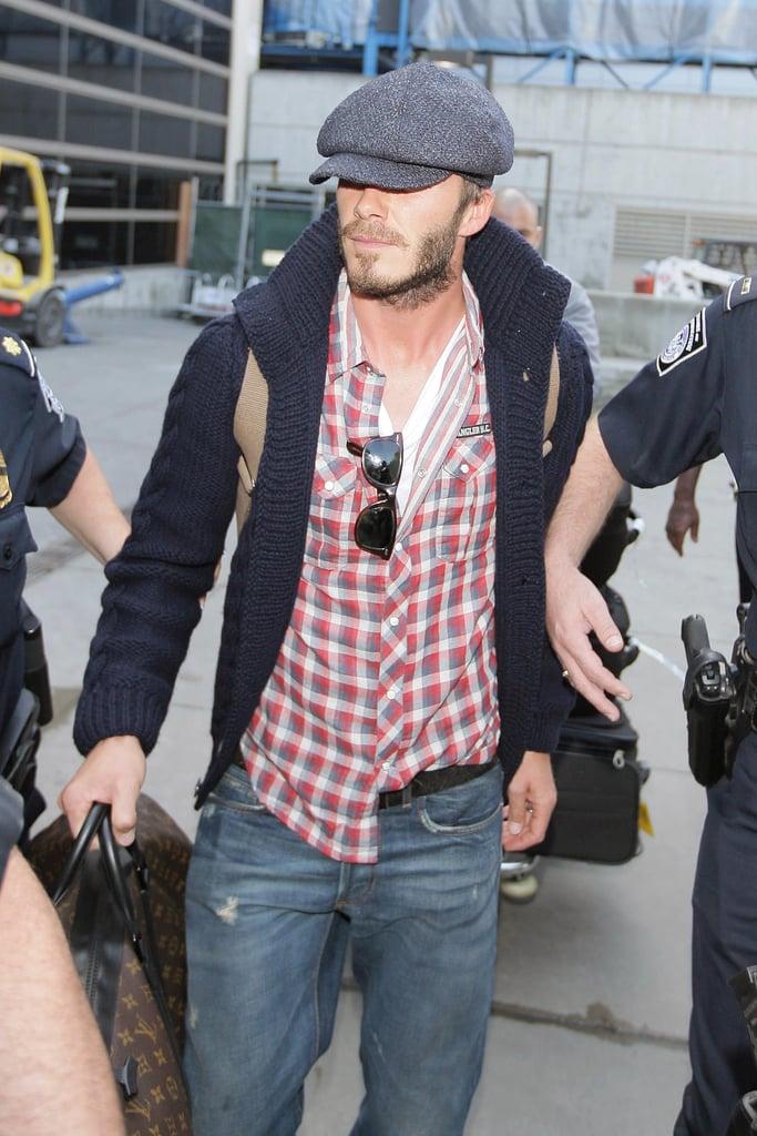 David Beckham Arrives In LA