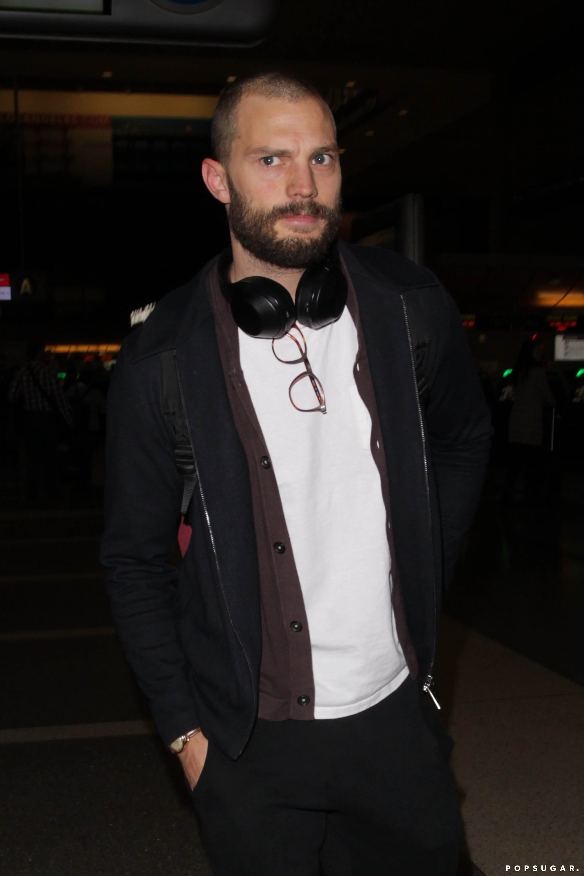 Jamie Dornan With Shaved Head Pictures Jan. 2017 ...