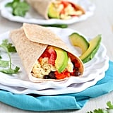Breakfast Burrito With Avocado and Chipotle Yogurt