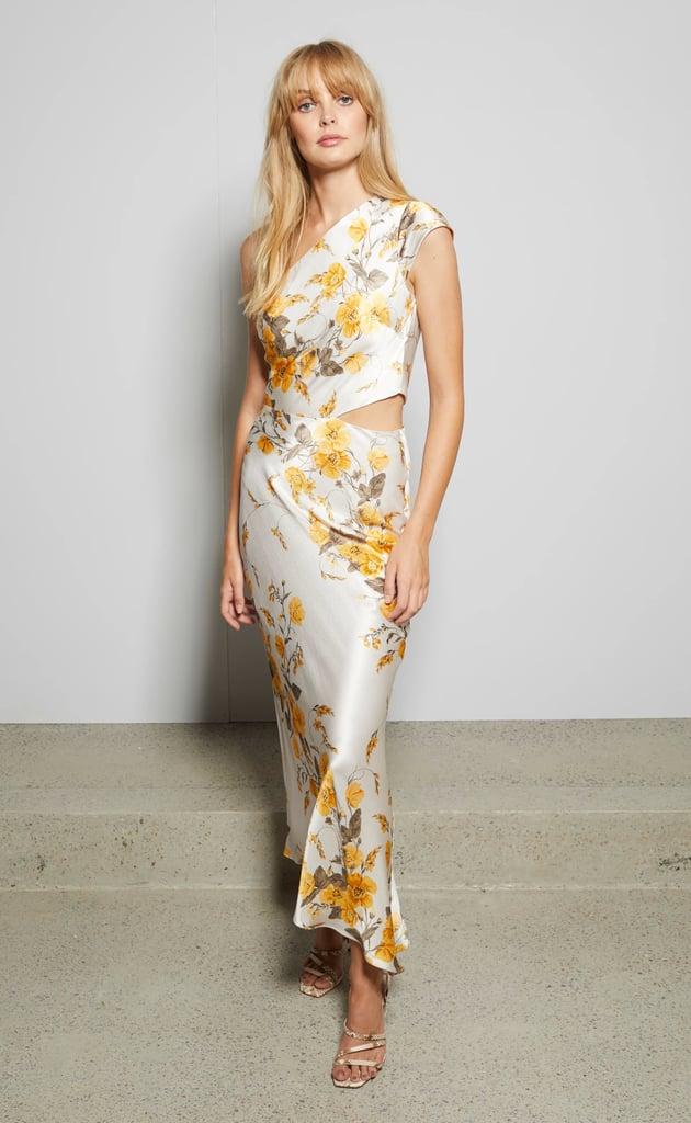 Matilde Asym Midi Dress ($280)