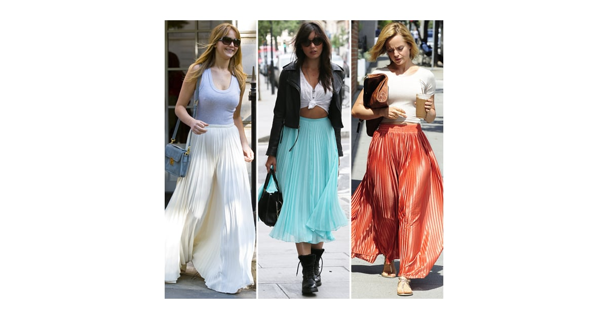 Pleated Maxi Skirts (Celebrity Pictures and Shopping) | POPSUGAR ...