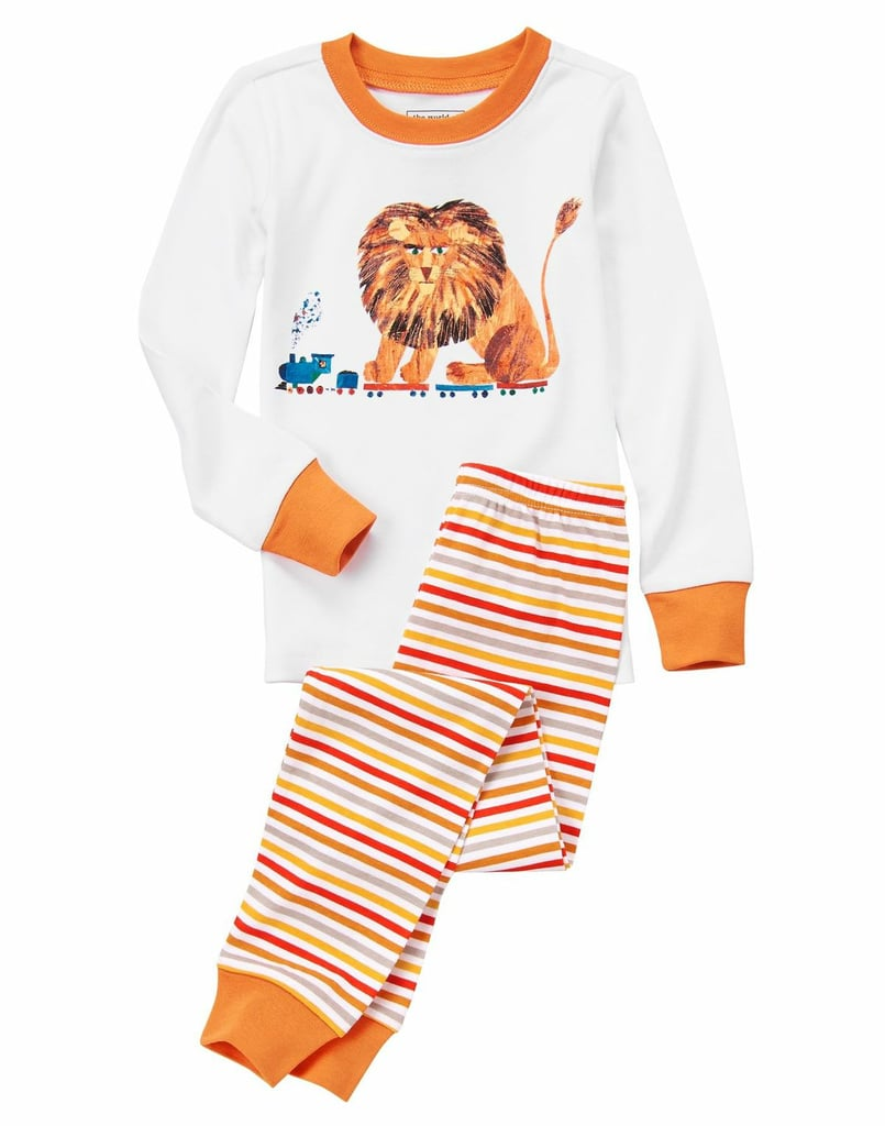Your child will feel as fierce as a lion in this fun, striped pajama set ($27).