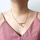 HUAN XUN Initial Necklace