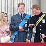 Pictured: Lady Rose Gilman, Prince William, Prince Harry.
