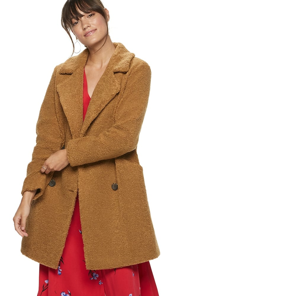 POPSUGAR at Kohl's Teddy Coat