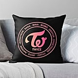 TWICE OT9 MEMBER Throw Pillow