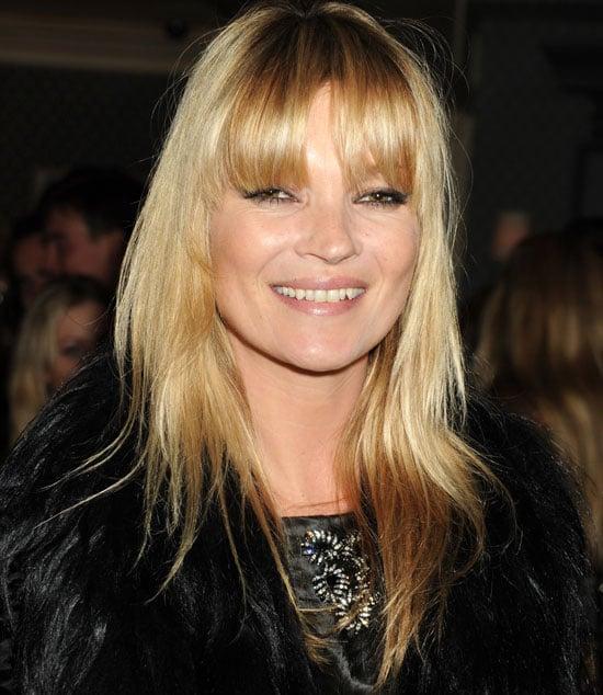 Kate Moss Cuts Fringe