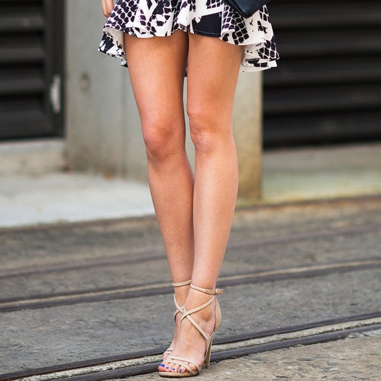 We'll let you in on a little secret. Our trick for instantly longer-looking legs? Nude heels.