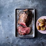 Spinneys Three-Mustard Beef Tenderloin With Baked Potatoes