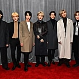 BTS Bottega Veneta Jackets and Turtlenecks at the Grammys