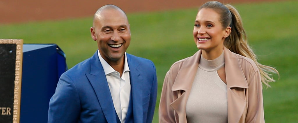 Derek and Hannah Jeter at Yankee Stadium Ceremony May 2017