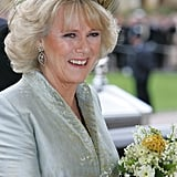The Duchess of Cornwall wore Philip Treacy for her wedding in 2005.