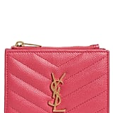 Saint Laurent Monogram Leather Card Case