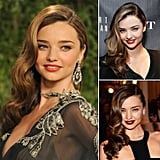 Who: Miranda Kerr The look: Sideswept waves The Victoria's Secret model has taken the brand's iconic hair into her everyday look, whether it's for a red carpet or a casual event.