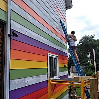 Lesbian Couple Paints Their House Rainbow