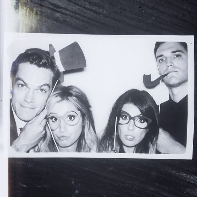 Ashley and Christopher jumped in the photo booth with Shenae Grimes and her husband, Josh Beech.