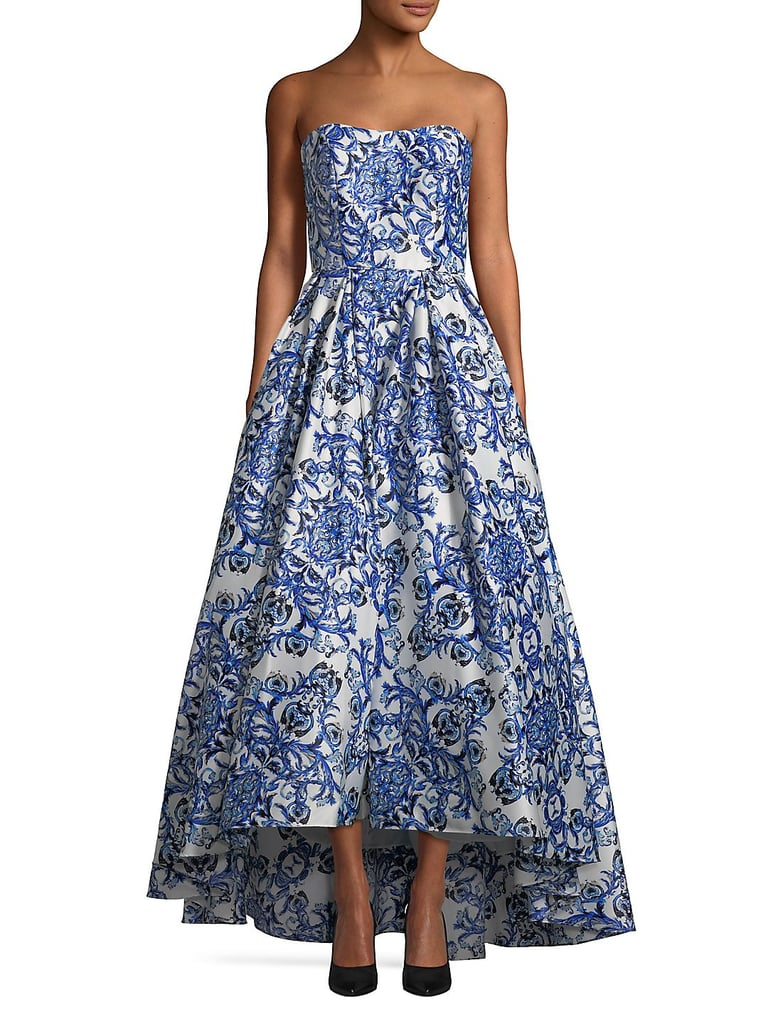 Betsy & Adam Strapless Floral Ball Gown | Special Occasion Dresses ...