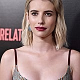 Emma Robert's Blond Crop Cut in 2018