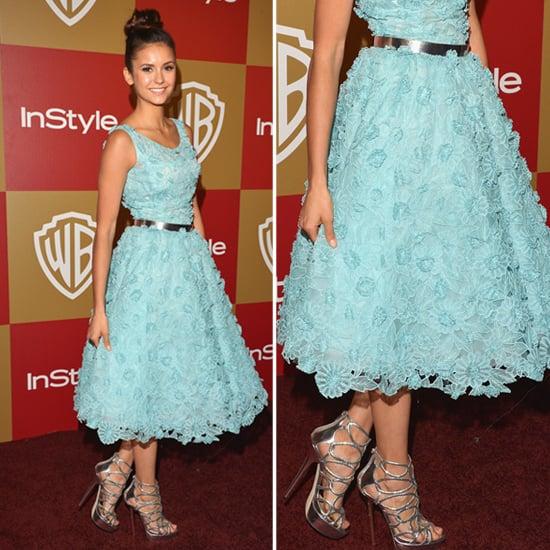 Nina Dobrev Golden Globes Party Fashion 2013