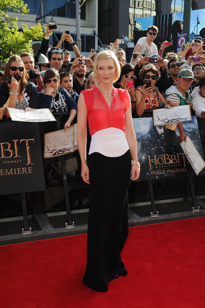 Cate Blanchett posed in New Zealand for the world premiere of The Hobbit: An Unexpected Journey.