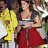 Princess Eugenie in sequins.