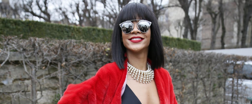 6 Outrageous Rihanna Fuzzy Coat Moments