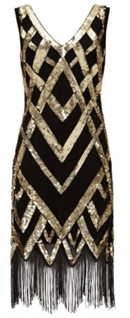 Gatsbylady Glitz Vintage Flapper Dress
