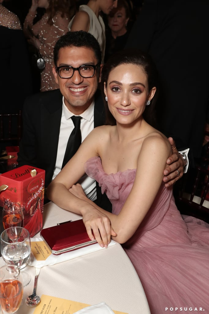 Pictured: Sam Esmail and Emmy Rossum