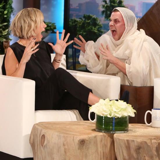 Video of Kristen Wiig Getting a Fright on Ellen