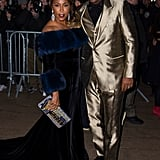 Steve Harvey and wife Marjorie Elaine Harvey sat front row to watch their daughter, Lori Harvey, model in the extravagant show.