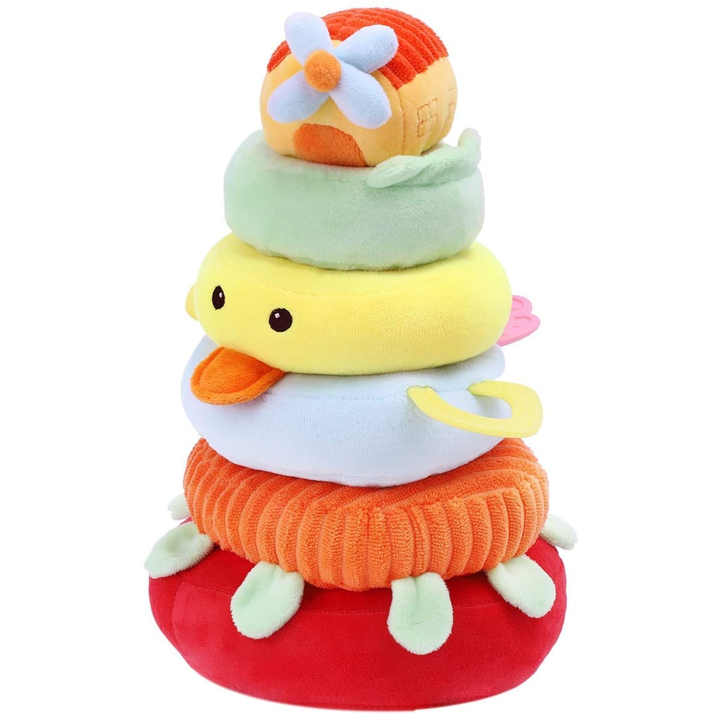 iPlay, iLearn New Baby Soft Safe Toy Plush Stacking Rings