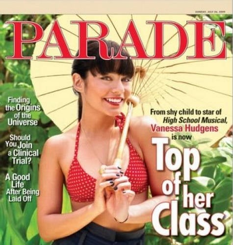 Vanessa Hudgens does Parade mag-july 09
