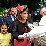 Princess Eugenie talked to a baby.