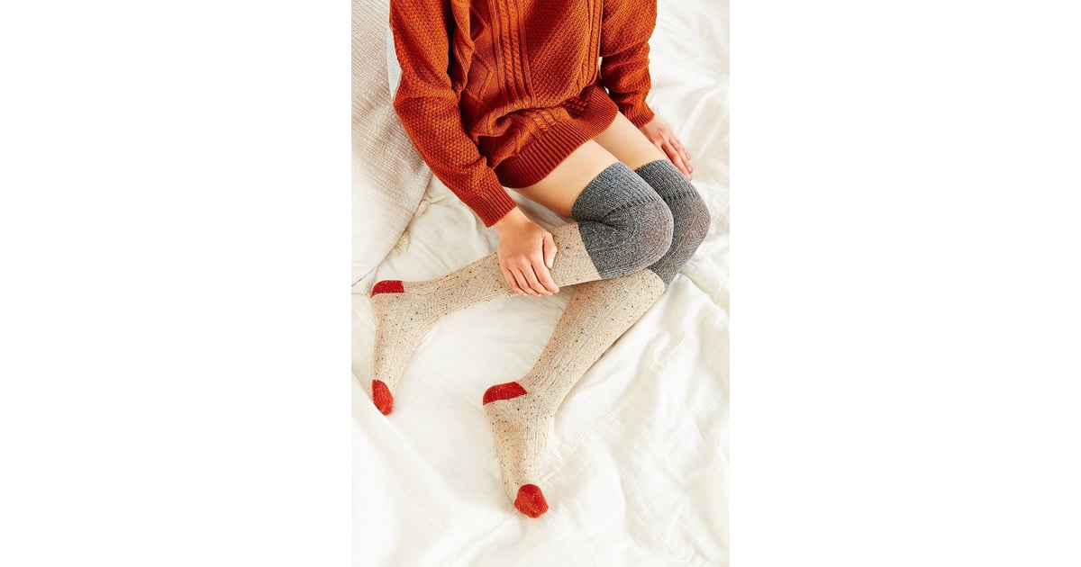 a2486358984 Urban Outfitters Colorblock Cozy Over-the-Knee Sock ( 14)