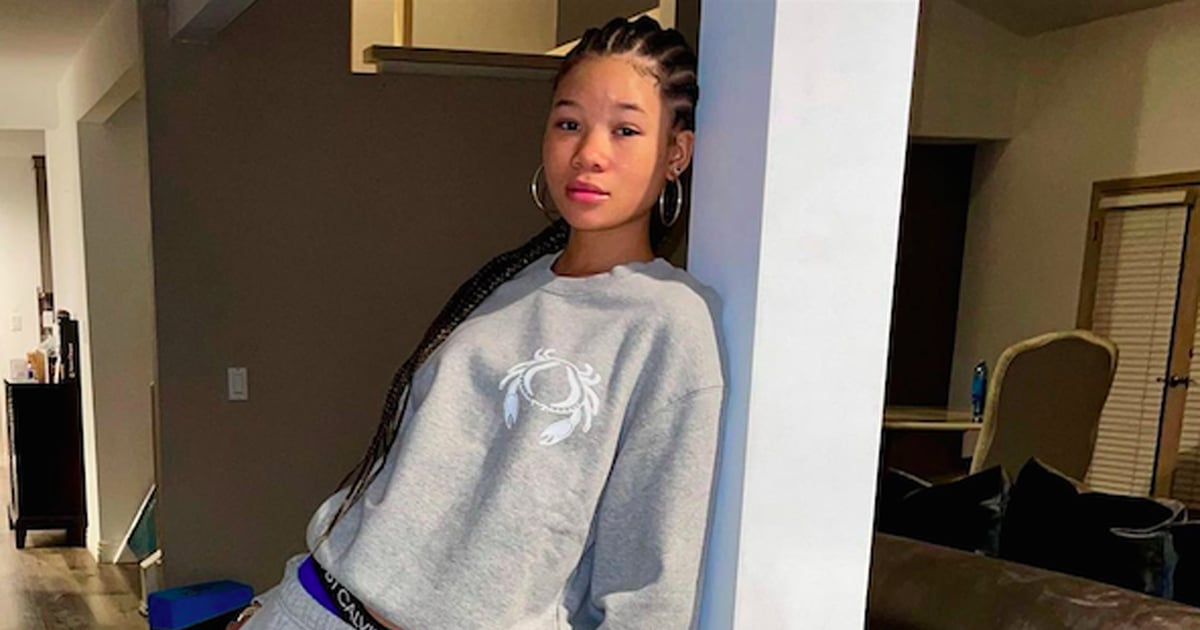 Storm Reid Wears Her Astrological Sign on Her Sleeve in This Good American Sweatsuit