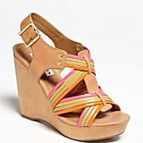 We love the bright neon straps on these wedges.  Steve Madden Tampaa Sandals ($90)