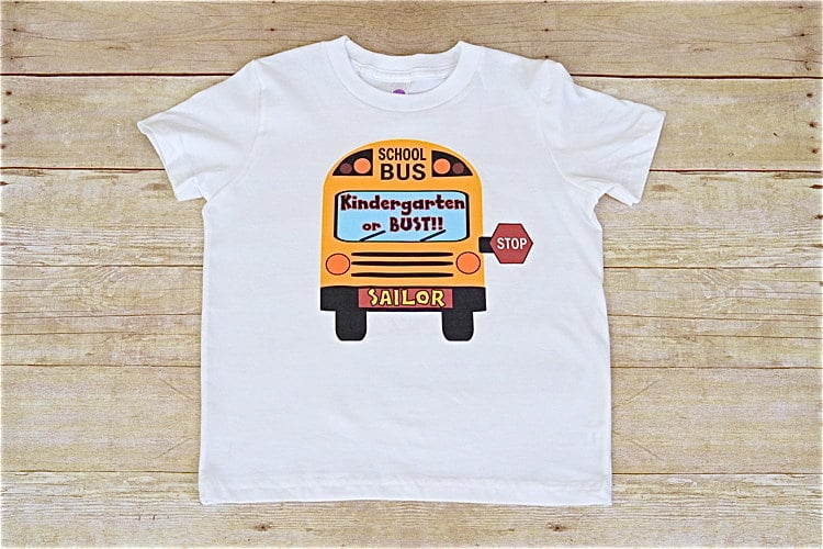 School Bus Shirt