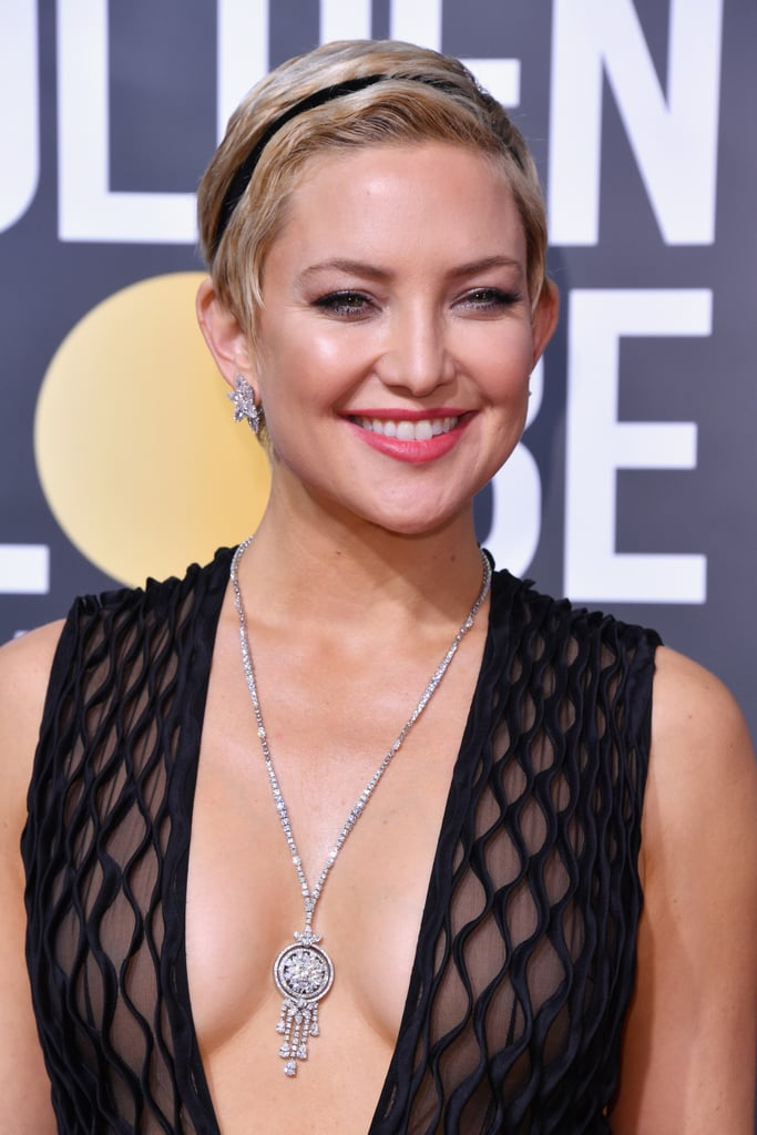 Kate hudson 39 s hair at the 2018 golden globes popsugar beauty for Celebrity watches female 2018